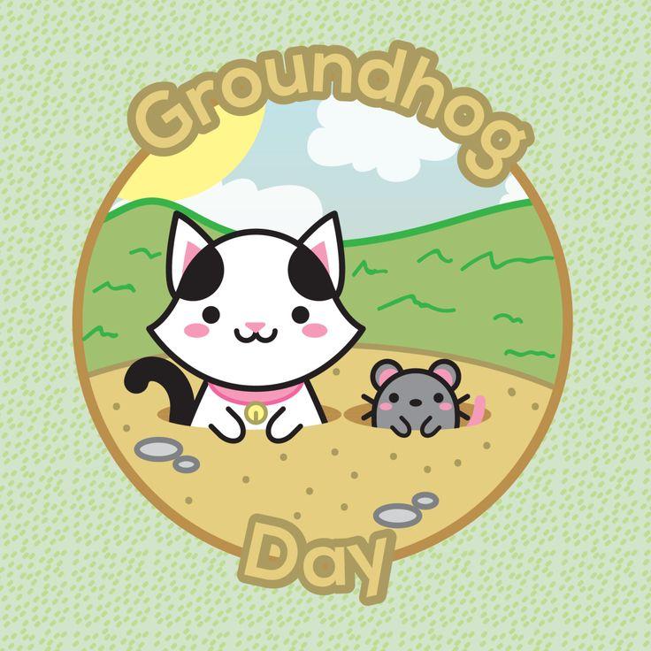 Today is the groundhog day! Will it rain? Today is the groundhog day! Will it rain? Today is the groundhog day!! Hey! It's repeating!!! =O – Hoje é o dia da marmota! Será que vai chover? Hoje é o dia da marmota! Será que vai chover? Hoje é o dia da...
