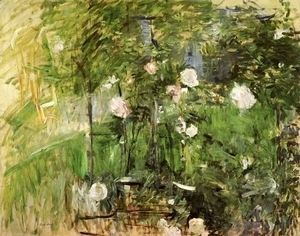 A Corner Of The Rose Garden  Berthe Morisot
