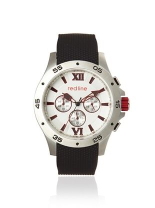 80% OFF red line Men's 60028 Spark Black/Silver Rubber Watch