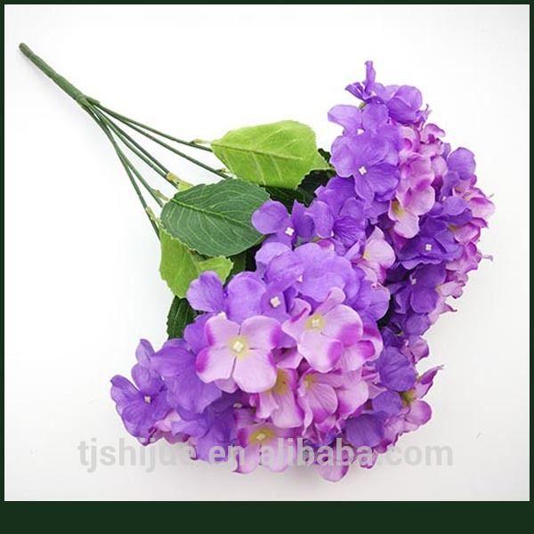 Arreglos florales de seda falsa hortensias flores al por mayor ...