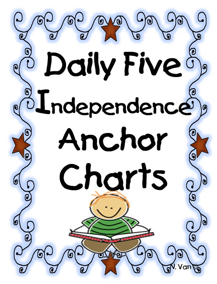 First Grade Wow: Daily Five Independence Anchor Charts