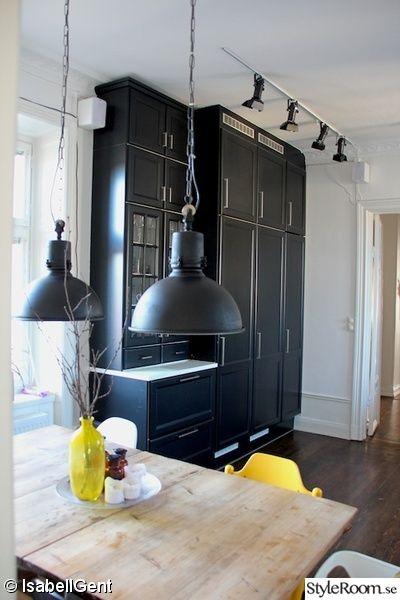 köksluckor,svart kök,svart kökslampa