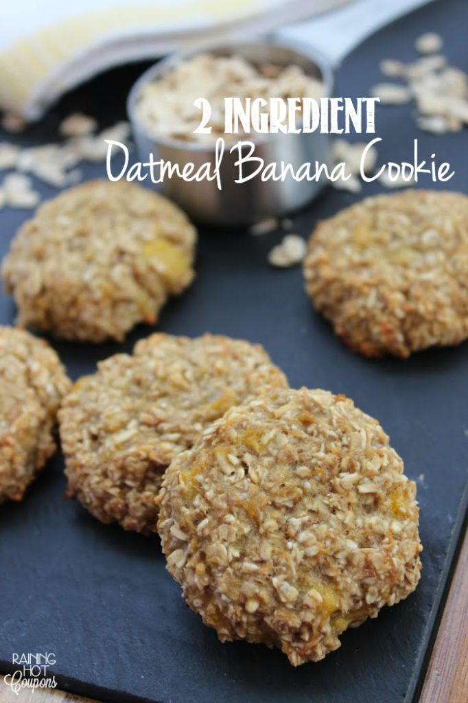 2 Ingredient Oatmeal Banana Cookie - These are very healthy cookies and make for the perfect breakfast or healthy snack.