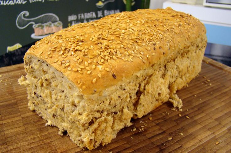Pão Integral de Grãos e Iogurte | Receitas | Dia Dia