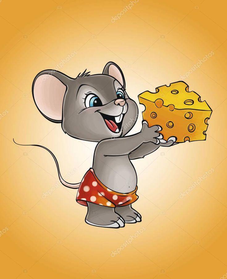 картинка мультяшной мышки с сыром матка