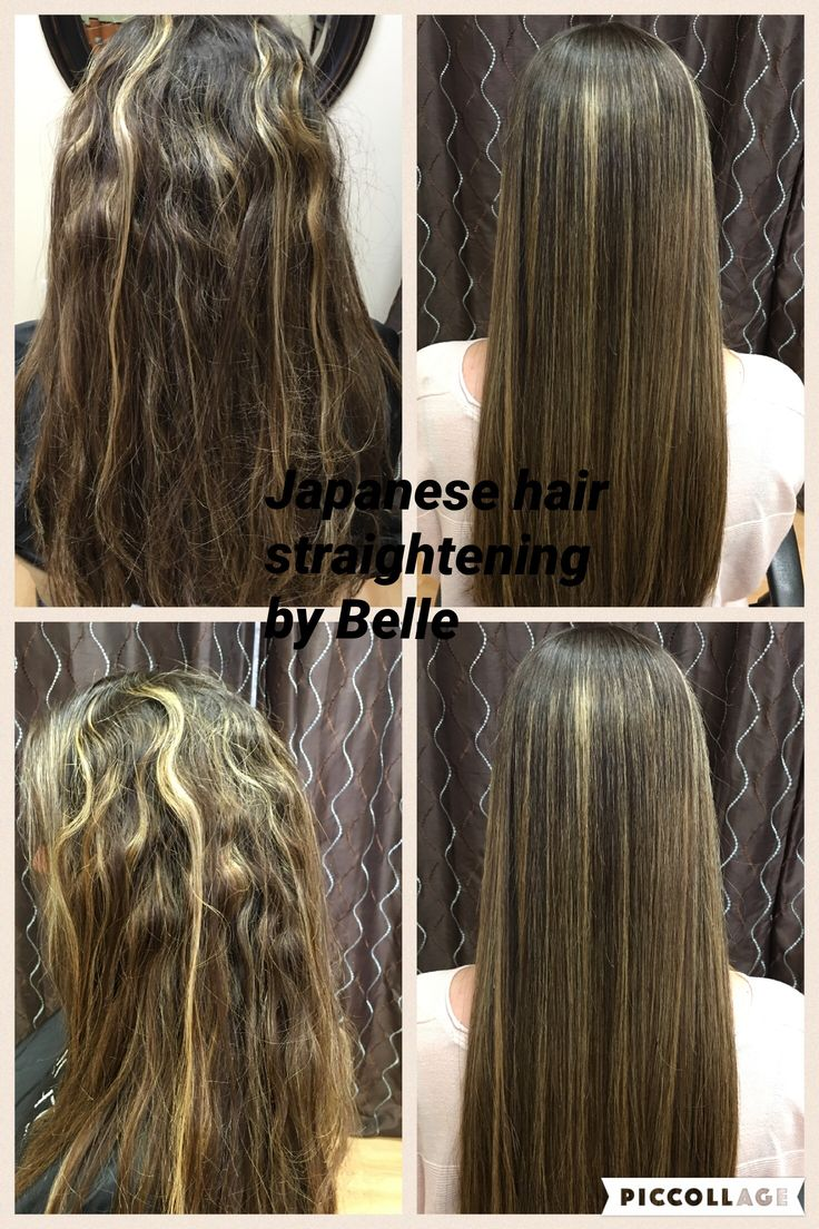 Before and after permanent hair straightening. #istraighthair #japanesehairstraightening