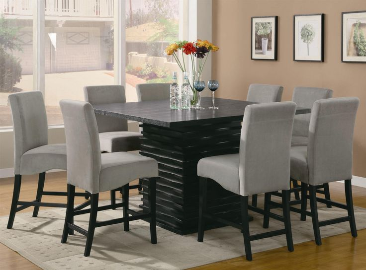 square dining table seats 16 4 room sets counter height with bench set