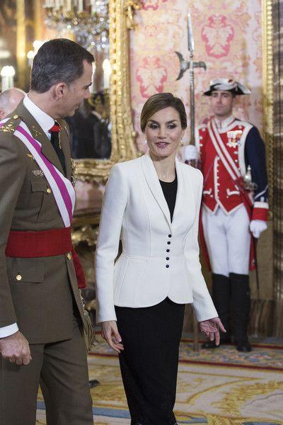 Spanish Royals Celebrate New Year's Military Parade 2016