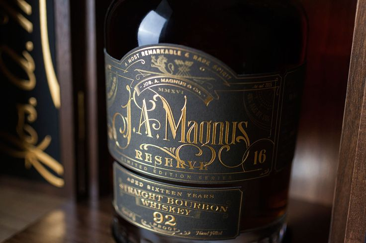 Warm up with JA Magnus Reserve Straight Bourbon Whiskey — The Dieline - Branding & Packaging Design