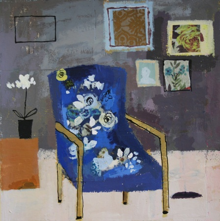"""Blue Geranium Chair"" by Charlotte Hardy -- her work is so fun, it's hard to ""pin"" a favorite"