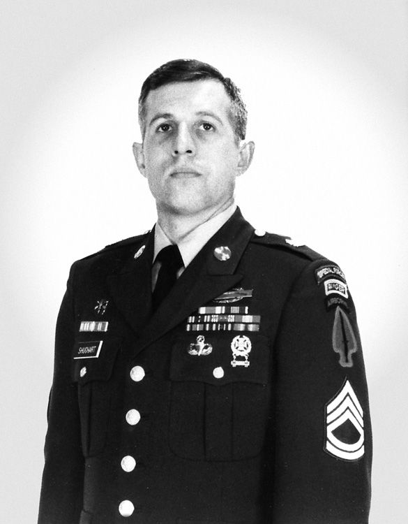 """Randall David """"Randy"""" Shughart was a US Army Soldier of the Special Operations Unit, 1st Special Forces Operational Detachment-Delta (1SFOD-D), also known as """"Delta Force"""". Shughart was posthumously awarded the Medal of Honor for his actions during the Battle of Mogadishu on 3 October 1993."""