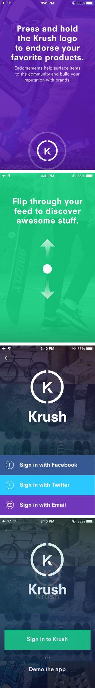 Krush App Intro
