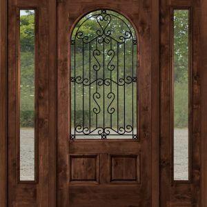 Rustic Exterior Doors With Glass
