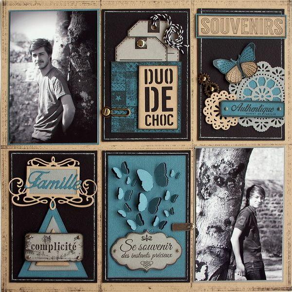 Une page et des cartes pour Florilèges - Scrapucine