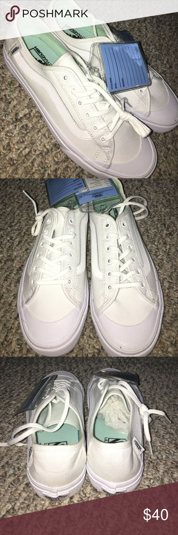 Classic white sk8 low Vans I have these BRAND NEW white vans that still have the tags on them. Never been worn. Also they are a size women's 9. Shoes Sneakers