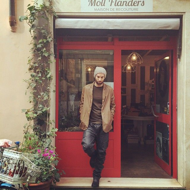 #beanie#nuur, #leatherblazer#giorgiobrato, #t-shirt#carolchristianpoell, #trousers#borisbidjansaberi, #boots#marsèll