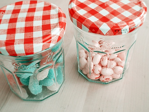 Repurpose Jam Jars for storage or favors - from puglypixel