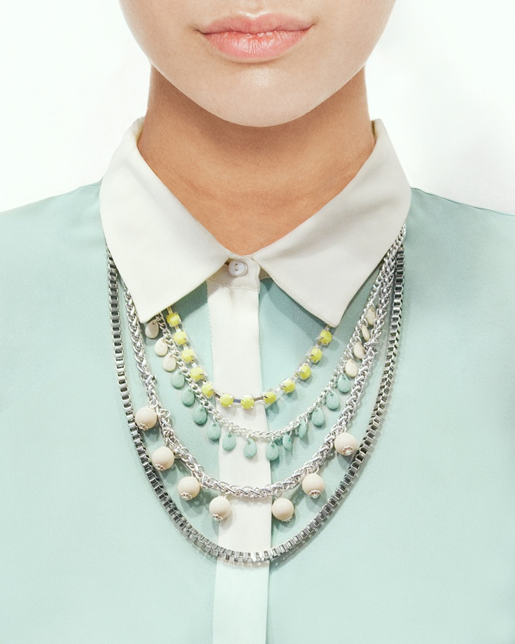 Silver Spice Necklace - In pastels