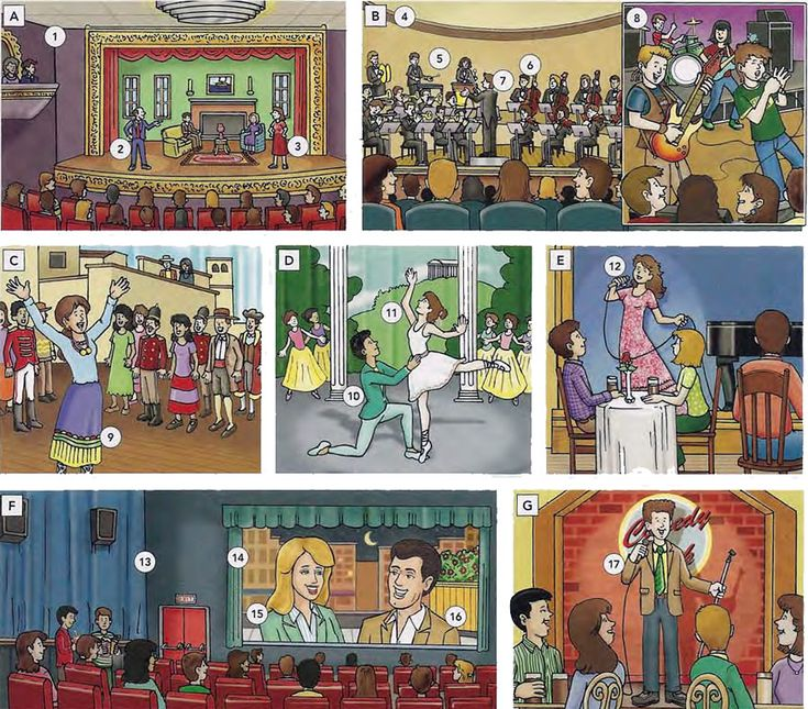 Types of entertainment people like to go and watch
