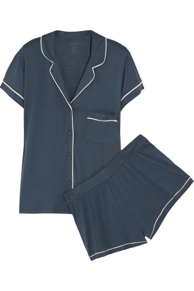 Calvin Klein Underwear|Structure stretch-jersey pajama set|NET-A-PORTER.COM 80e