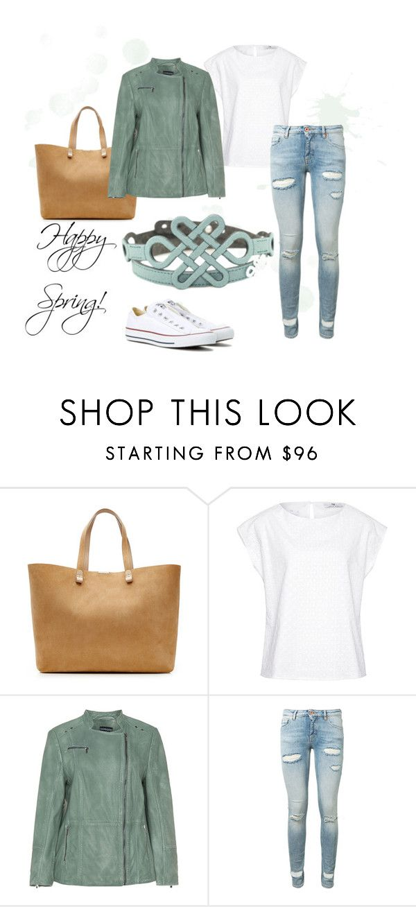 """""""Happy Spring!"""" by krilajewels on Polyvore featuring moda, Victoria Beckham, Hahn, Samoon, Off-White e Converse"""