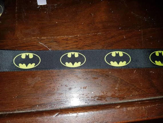 Check out this item in my Etsy shop https://www.etsy.com/ca/listing/595601461/batman-inspired-grosgrain-ribbon