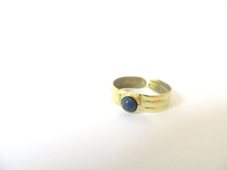 Small gemstone & brass rings by Picossa on Etsy