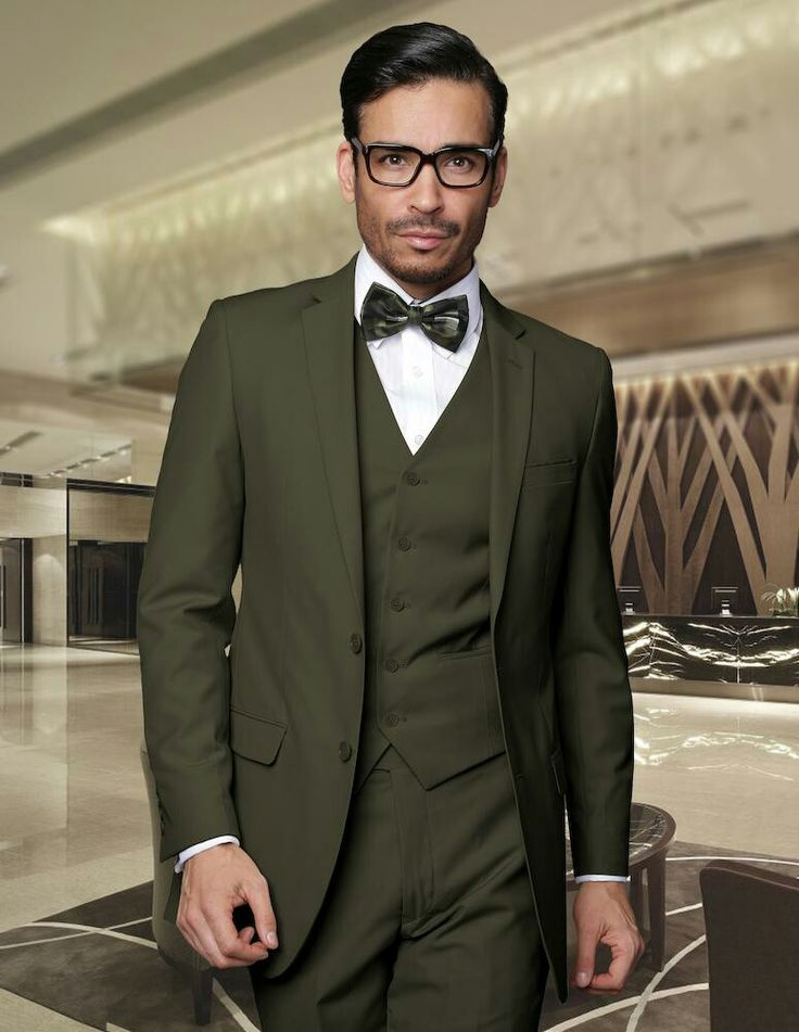 Olive green suit for Groom