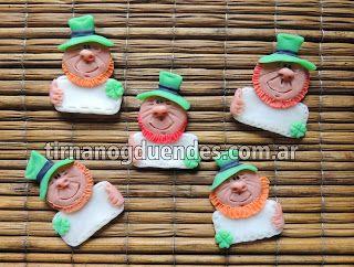 Imán Leprechaun cartel www.tirnanogduendes.com.ar