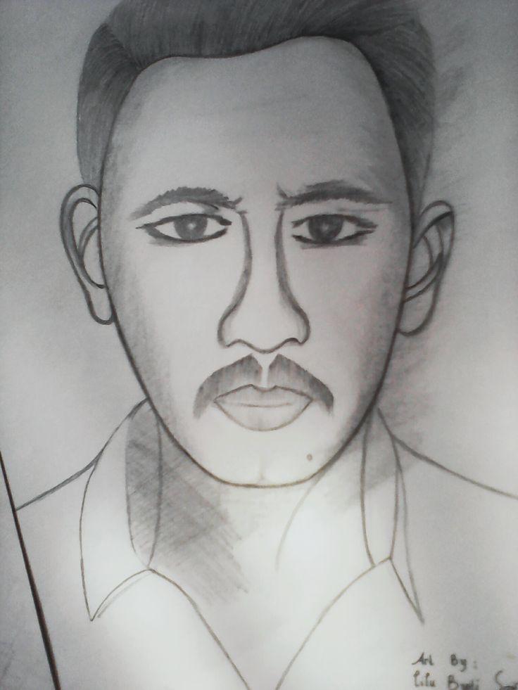 sketch by lilu binti saif   objek : my father (H.M saifullah)