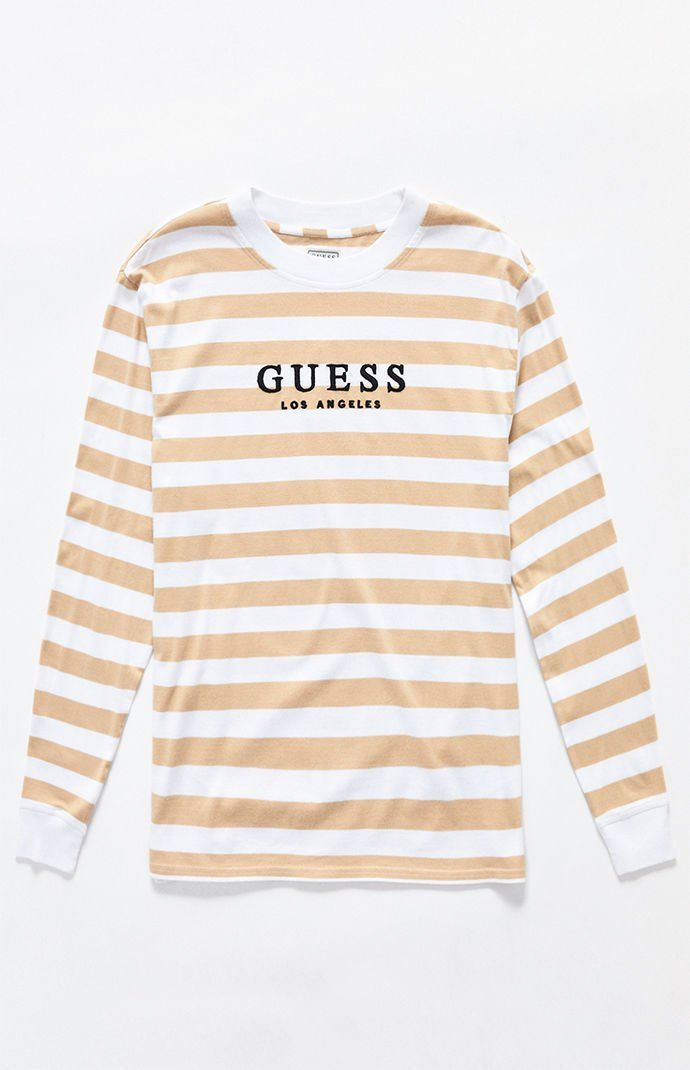 31301cdddc Guess St. James Stripes Long Sleeve T-Shirt in 2019 | Wearables ...