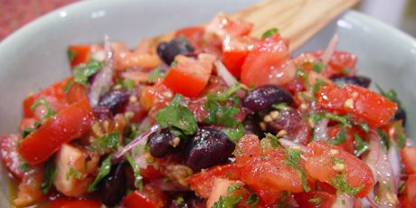 Tomato Olive Salad......chef at home.... .SEASON.... 3...... Epi..... Pasta with Red Pepper Sauce.....7944