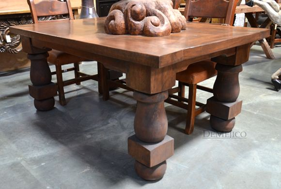 Turned Leg Dining Table Mesa Torno Dining Table Legs