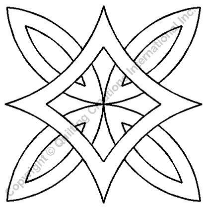 """Quilting Stencils > Misc Block - Item: 8.5"""" on QuiltingCreations.com"""