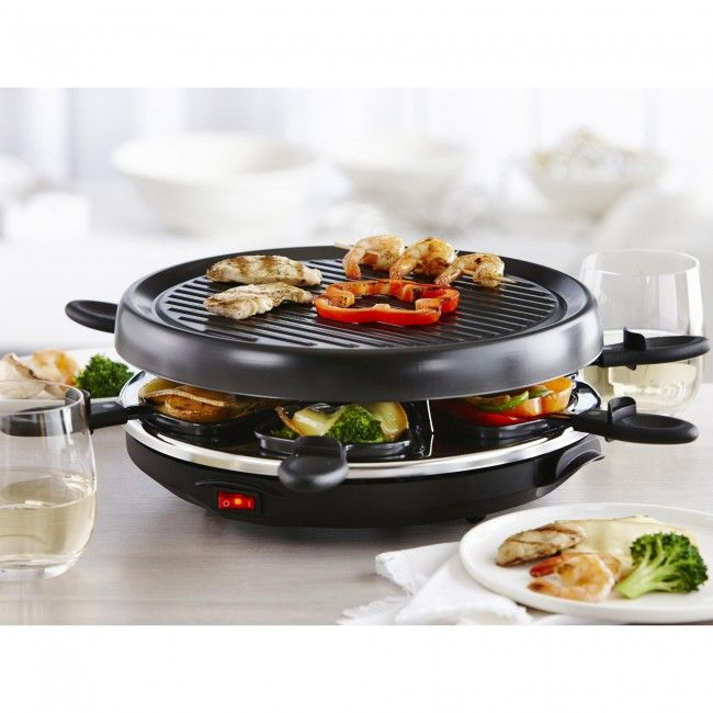 Get the party started with the Maison Misto Party Raclette Grill. This unit is designed for a party of 6 and allows for easy clean up with the non-stick grilling plate.