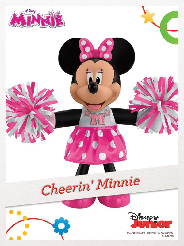 Minnie encourages your child with cheers, phrases, and pom-pom routines. For a chance to win, click here: http://fpfami.ly/01497 #FisherPrice #Disney #Toys
