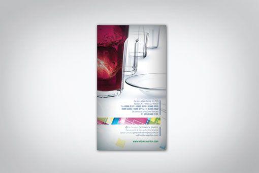 Diseño editorial de catálogo de productos para Vidriera Santos