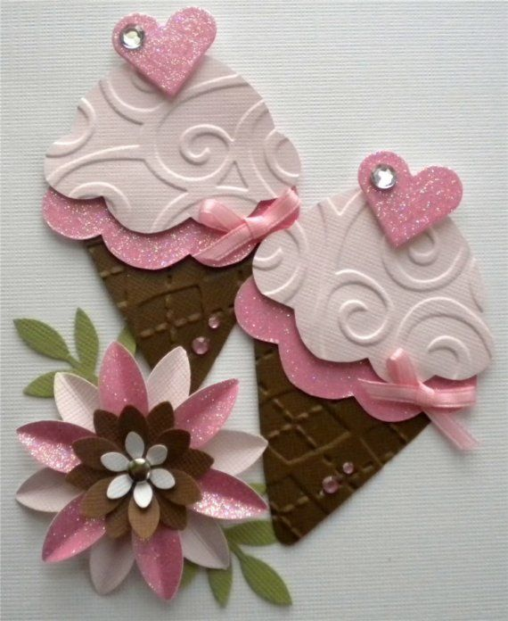 Card Making Embellishment Ideas Part - 41: Ice Cream Embellishment Page Kit. Strawberry By KindrasCreations