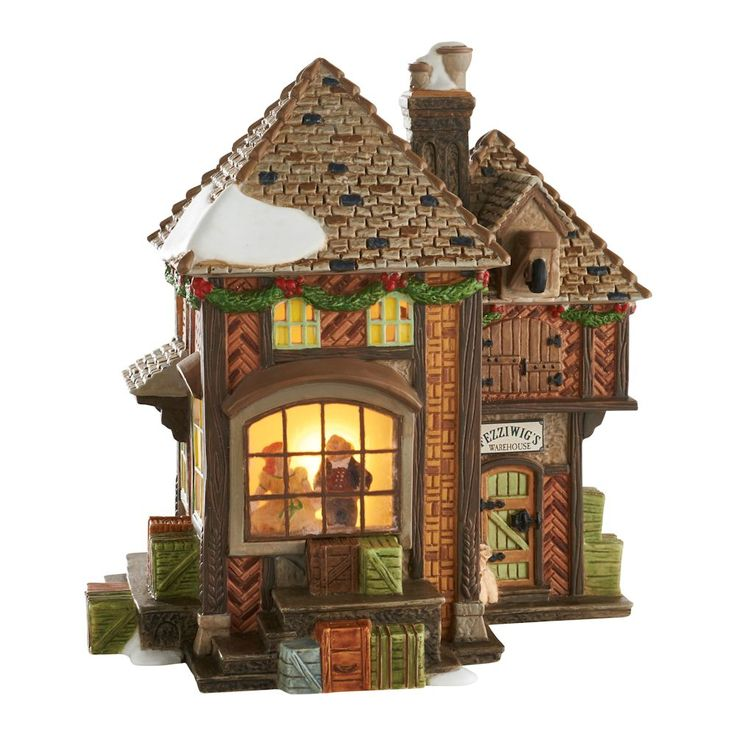 Department 56 Dickens' Village A Christmas Carol Fezziwig's Holiday Dance lighted building