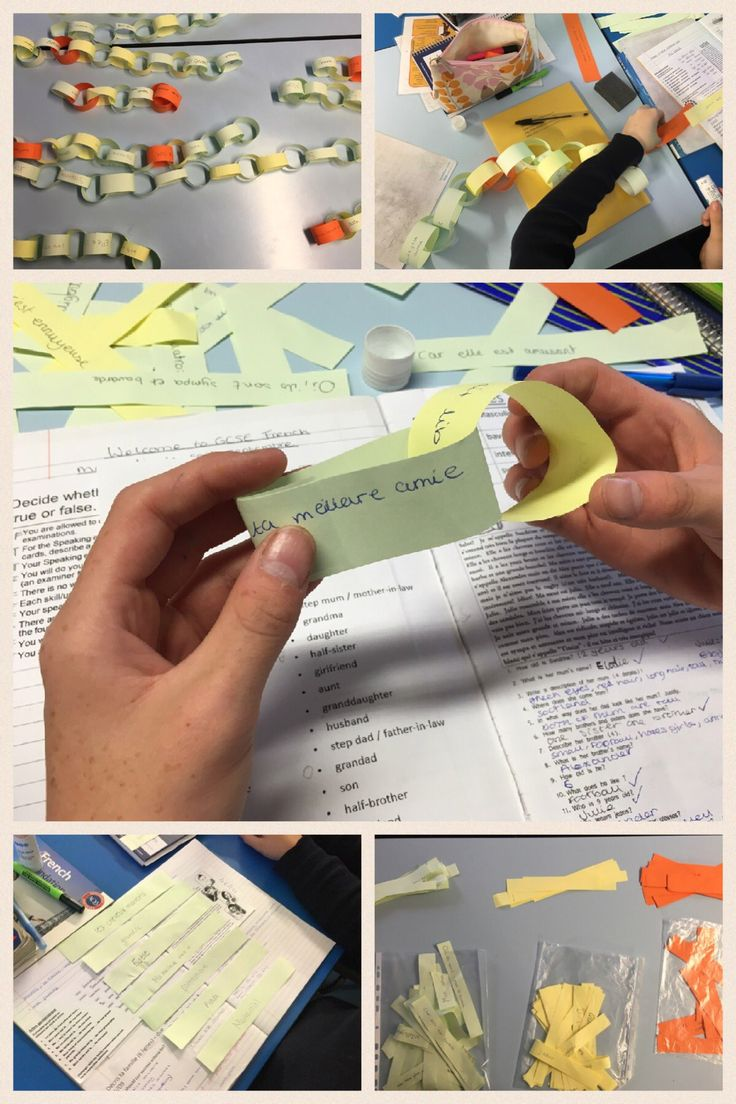 """Emma Risby on Twitter: """"Paper chain paragraphs in y10 French based on…"""