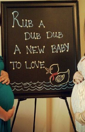 Maybe we can finally use all the rubber duckies. ,Duck Baby Shower Theme