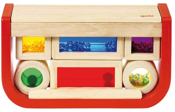 I just love these Shake and Stack Sensory Blocks - definitely going on the birthday gift registry.