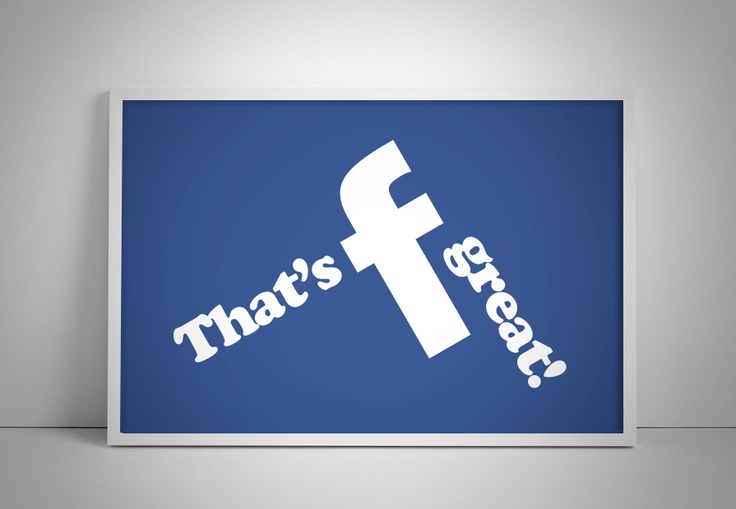 Little fun with FB logo! Isn't great?