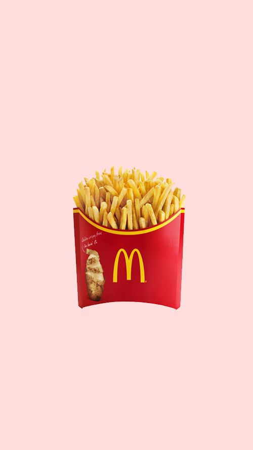 Minimalist Mcdonald S Fries With Pastel Pink Background