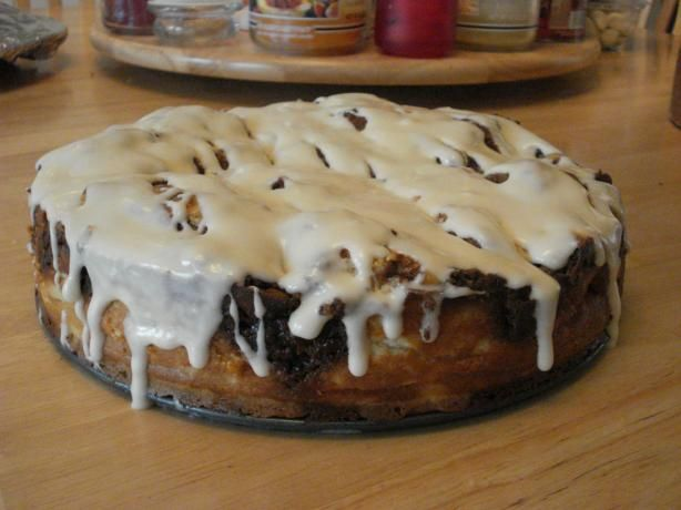 Cinnabon Cheesecake (Like Tgi Friday s) from Food.com: This is the most AMAZING cheesecake...looks like a cinnamon roll too! I acquired this wonderful recipe off of some serious pregnancy craving searching one day!