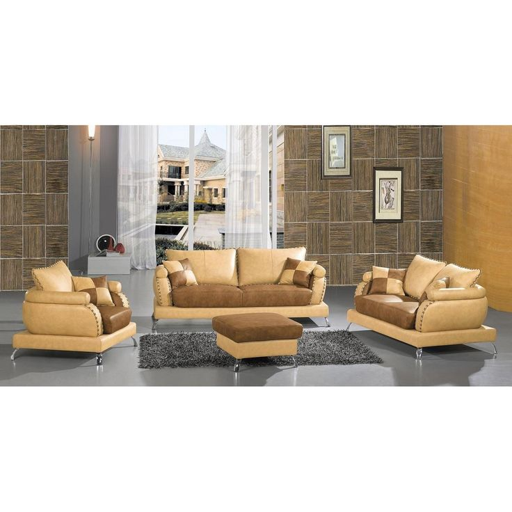 Divani Casa 2222 Contemporary Leather Sofa Set