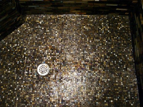 Sparkle Mosaic Floor Inlay : The best images about glitter walls floors on