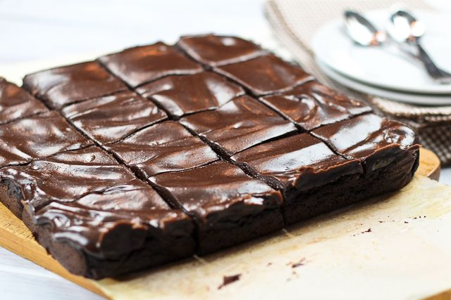 Healthy Frosted Sweet Potato & Avocado brownies