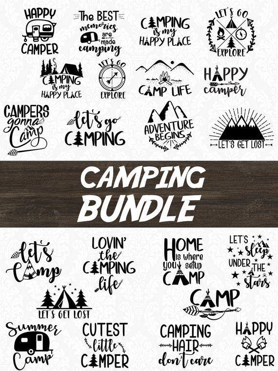 Camper Svg Happy Camper Svg Camping Svg Camping Bundle
