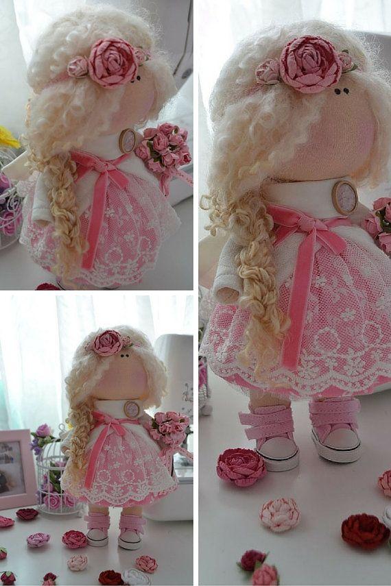 Muñeca hecha a mano muñeca interior amor muñeca muñeca Tilda